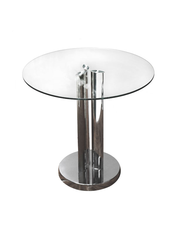 23 39 Round Glass Top End Table Lounge Furniture